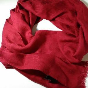 Gucci Monogram Silk Wool Blend Scarf